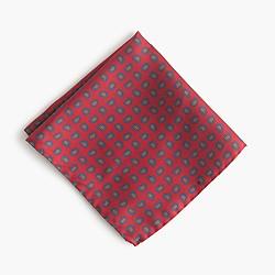 Italian silk pocket square in paisley