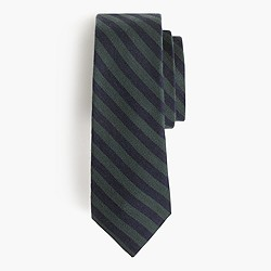 Italian silk-wool tie in stripe