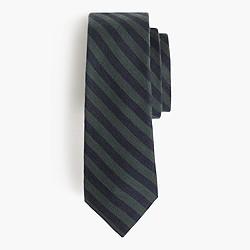 Italian silk-wool tie in stripe