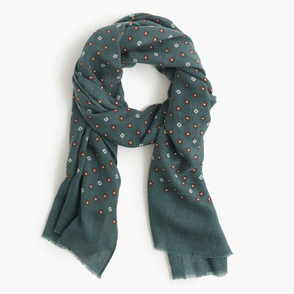 wool silk star and clover scarf scarves j crew. Black Bedroom Furniture Sets. Home Design Ideas