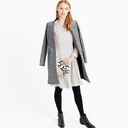 Long-sleeve textured dot dress