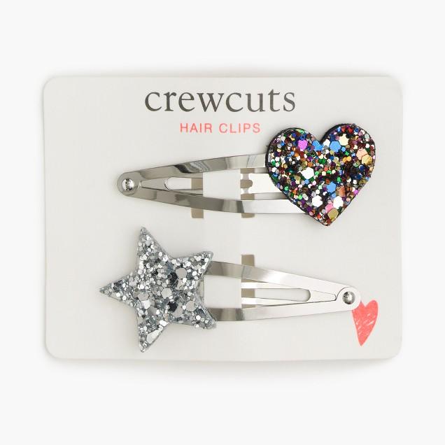 Girls' celestial hair clips