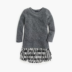 Collection fringe sweatshirt dress