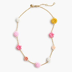 Girls' flower chain necklace