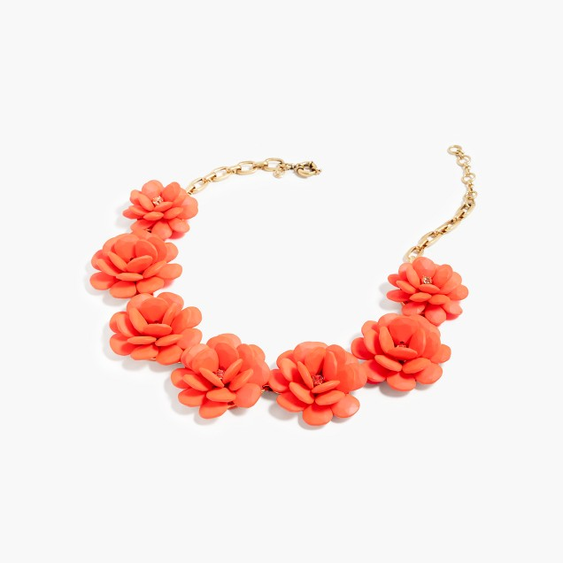 Rose wreath necklace