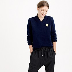 PLAY Comme des Gar�ons® V-neck sweater with gold heart