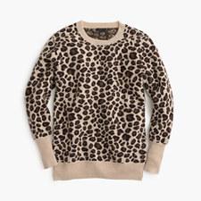 Leopard print cashmere sweater