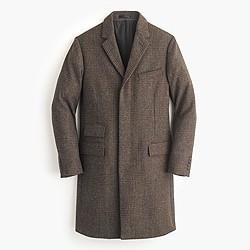 Ludlow topcoat in brown glen plaid English wool