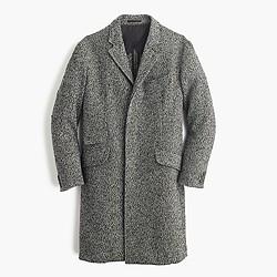 Unconstructed Italian tweed topcoat