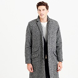 Unconstructed Italian tweed topcoat