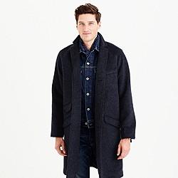 Unconstructed Italian wool topcoat