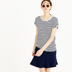 Striped pocket T-shirt with metallic trim