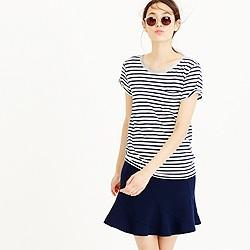 Striped pocket T-shirt with metallic trim