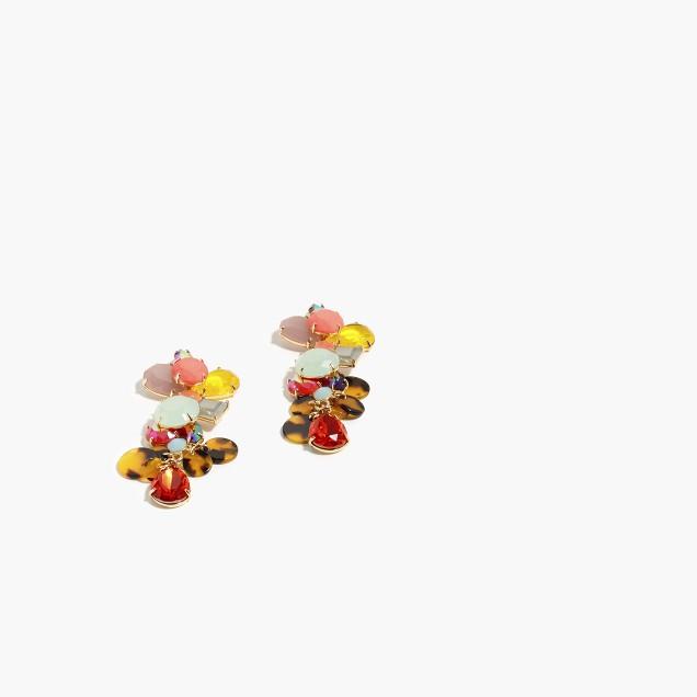 Mixed charm earrings