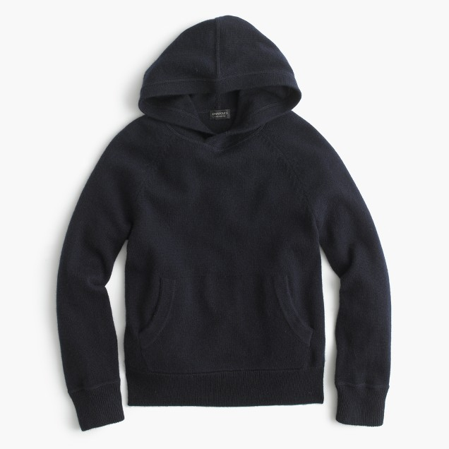 Kids' cashmere popover hoodie