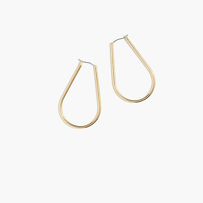 Horseshoe hoop earrings