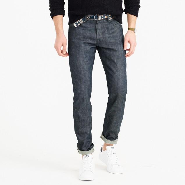 Wallace & Barnes slim steel blue selvedge jean