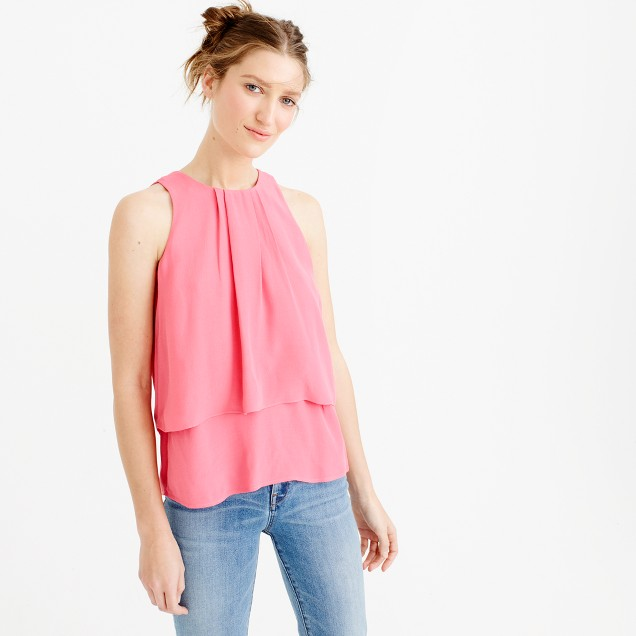 Tiered crepe top