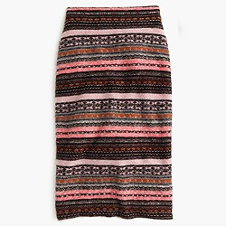 Collection cashmere-blend Fair Isle pencil skirt