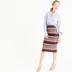 Collection cashmere-blend Fair Isle pencil skirt