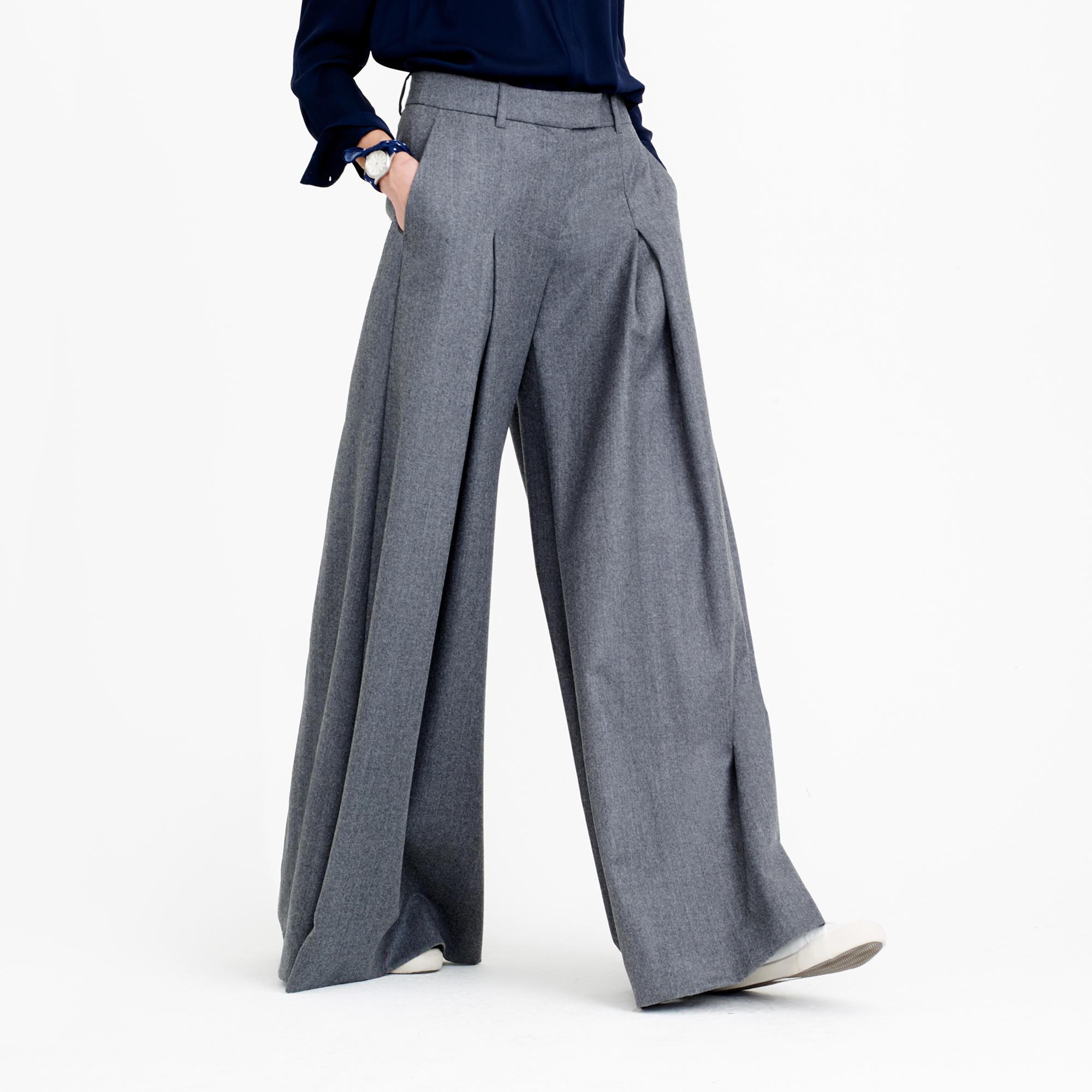 Collection ultra-wide-leg pant in Italian wool : Women novelty | J ...
