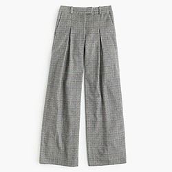 Collection ultra-wide-leg pant in glen plaid Italian cashmere