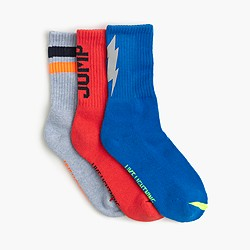 Boys' lightning rib socks three-pack