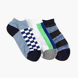 Kids' check striped socks three-pack