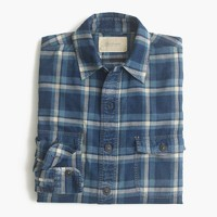 Shuttle Notes® indigo plaid shirt