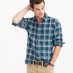 Shuttle Notes® indigo plaid shirt
