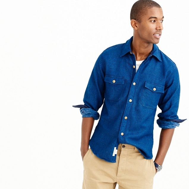 Shuttle Notes® indigo flannel shirt