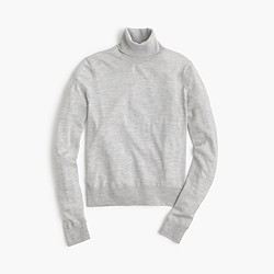 Shrunken wool turtleneck sweater