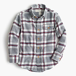 Kids' jaspé cotton shirt