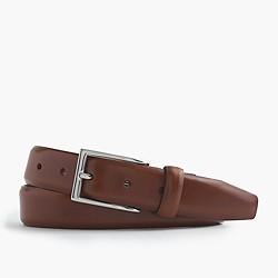 Leather dress belt