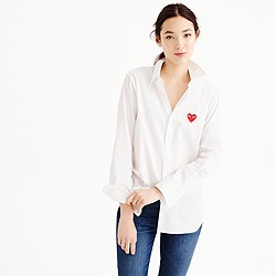 PLAY Comme des Gar�ons® red heart button-down shirt