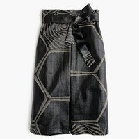 Collection A-line midi skirt in swirl jacquard