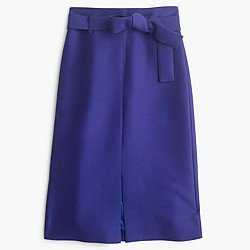 Collection A-line midi skirt in Italian wool blend