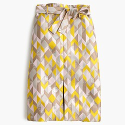 Collection chevron jacquard skirt
