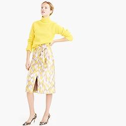 Collection chevron jacquard skirt