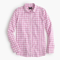 Boy shirt in flannel check