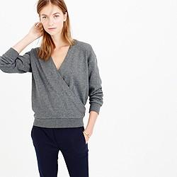 Crossover V-neck sweatshirt
