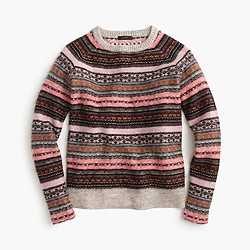 Italian cashmere-blend Fair Isle sweater