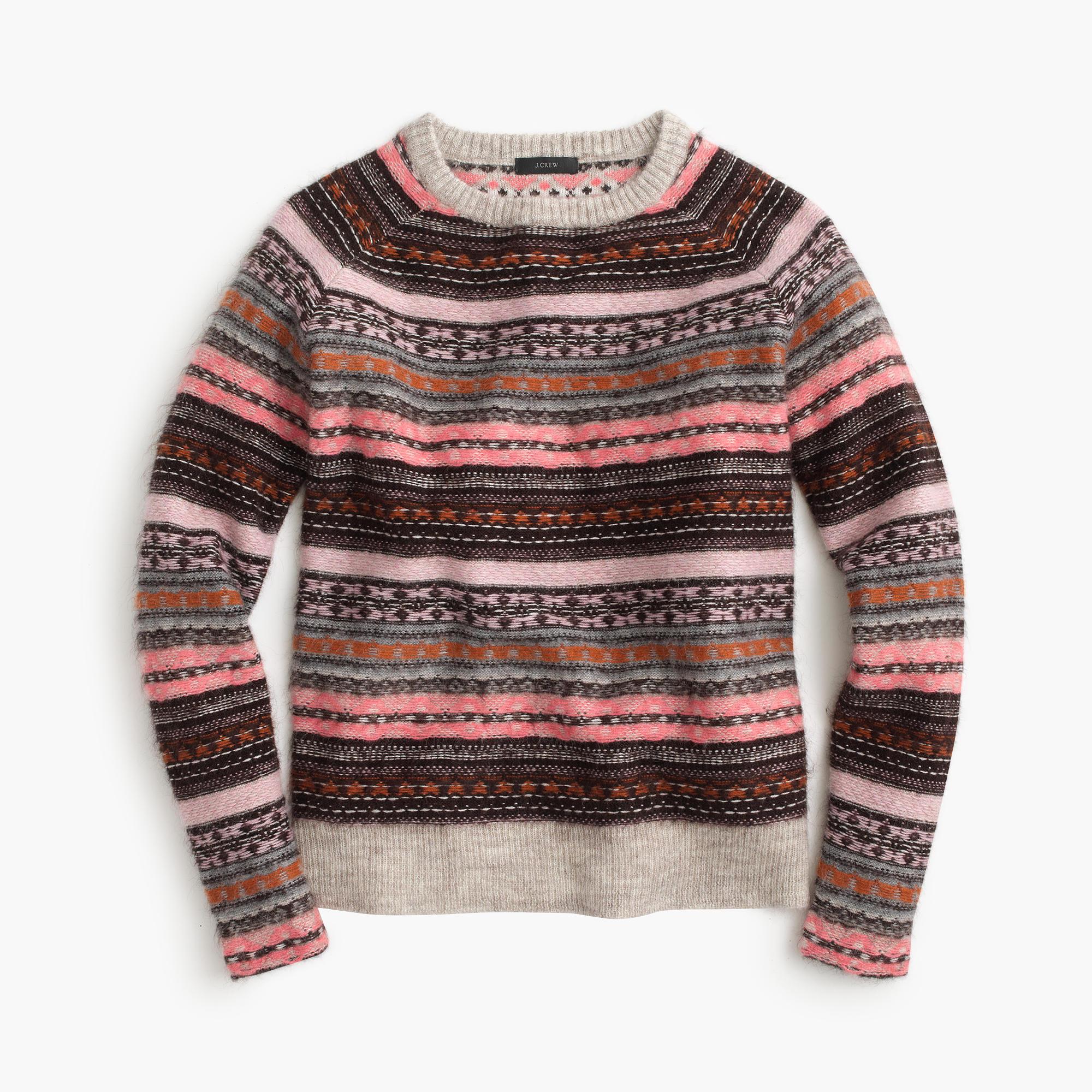italian cashmere blend fair isle sweater j crew. Black Bedroom Furniture Sets. Home Design Ideas