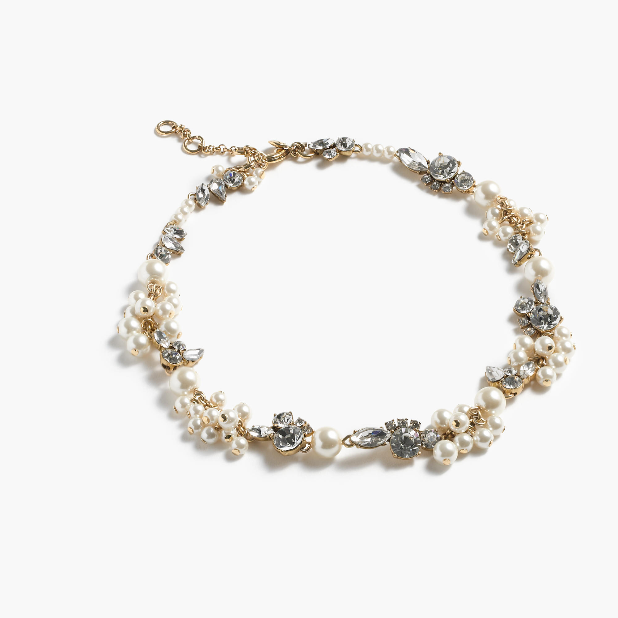Pearl and crystal necklace j crew for J crew jewelry 2015