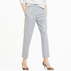 Collection Italian wool pull-on pant in beaded tux stripe