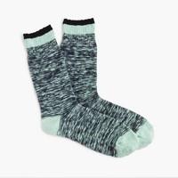 Marled tipped socks