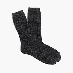 Shimmer woven trouser socks