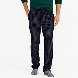 Flannel pajama pant in navy grid