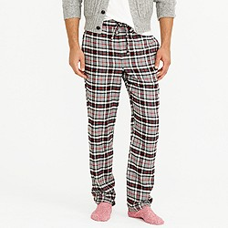 Flannel pajama pant in grey plaid