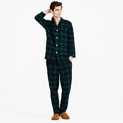 Flannel pajama set in Black Watch
